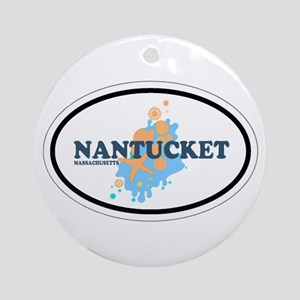 Nantucket MA - Oval Design Ornament (Round)