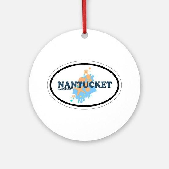 Nantucket MA - Oval Design Ornament (Round)