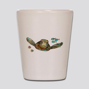 Flying Sea Turtle Shot Glass