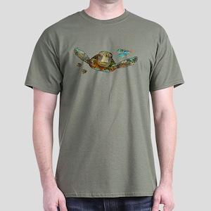 Flying Sea Turtle Dark T-Shirt