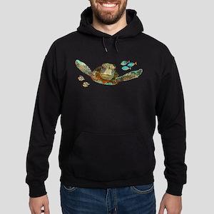 Flying Sea Turtle Hoodie (dark)