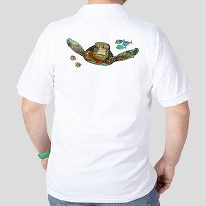 Flying Sea Turtle Golf Shirt