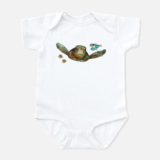 Flying Sea Turtle Infant Bodysuit