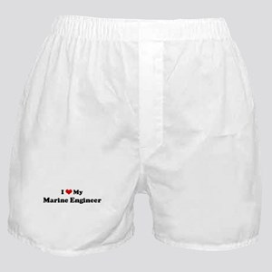 I Love Marine Engineer Boxer Shorts