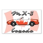 Miata MX5 Canada Sticker (Rectangle 10 pk)