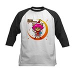 Xmas cat Kids Baseball Jersey