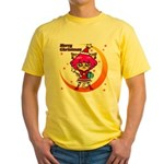 Xmas cat Yellow T-Shirt