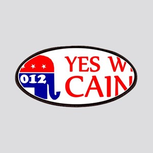 YES WE CAIN SHIRT BUMPER HERM Patches