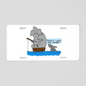 elephant and shark Aluminum License Plate