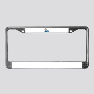 elephant and shark License Plate Frame