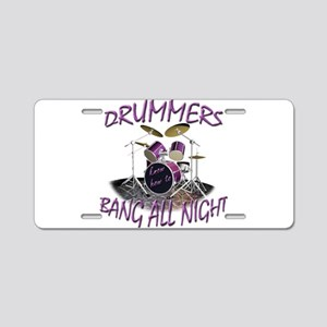 Drummers Aluminum License Plate