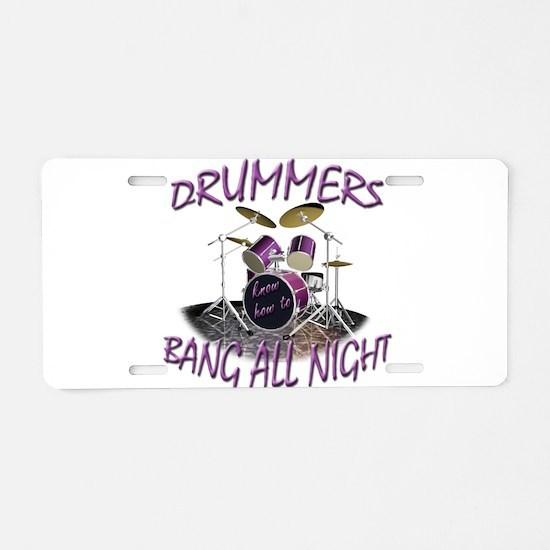 Drummers Aluminum License Plate
