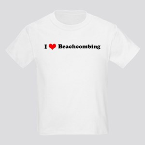 I Love Beachcombing Kids T-Shirt