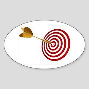 BULLSEYE Sticker (Oval 10 pk)
