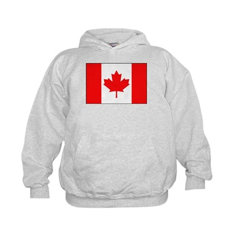 Canadian National Flag Kids Hoodie