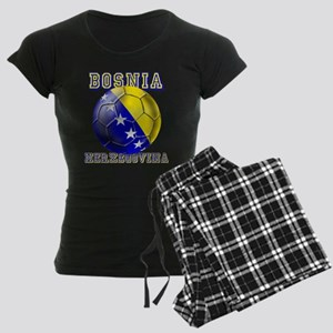 Bosnian Football Women's Dark Pajamas