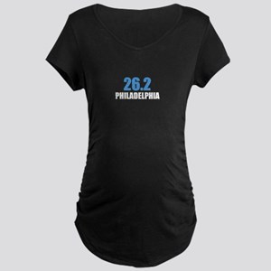26.2 Philadelphia Marathon Maternity Dark T-Shirt