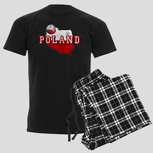 Polish Flag Map Men's Dark Pajamas