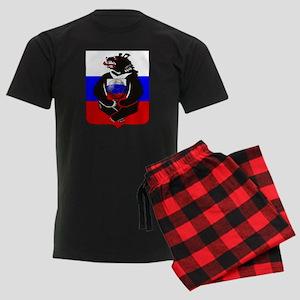 Russian Football Bear Men's Dark Pajamas