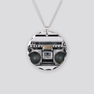 GHETTOBLASTER Necklace Circle Charm