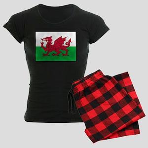 Welsh flag of Wales Women's Dark Pajamas