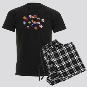 European Football Men's Dark Pajamas