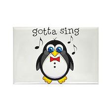 Choir Sing Penguin Music Rectangle Magnet