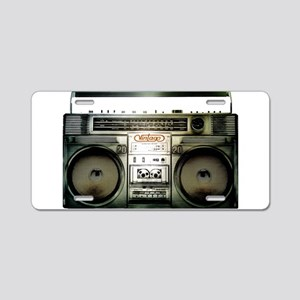 RETRO BOOMBOX Aluminum License Plate