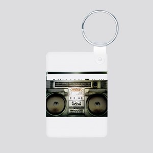 RETRO BOOMBOX Aluminum Photo Keychain