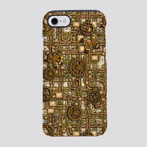 Steampunk Panel, Gears and Pip iPhone 7 Tough Case