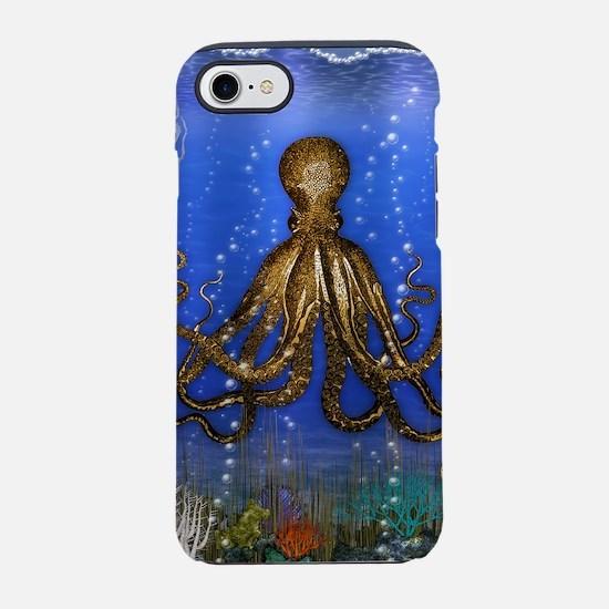 Octopus' Lair - colorful iPhone 7 Tough Case