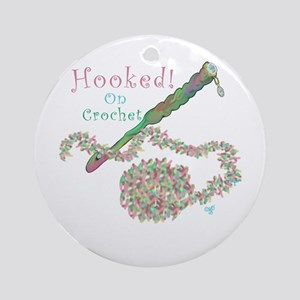 Hooked On Crochet Ornament (Round)