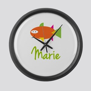 Marie is a Big Fish Large Wall Clock