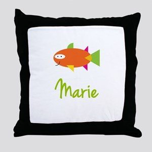 Marie is a Big Fish Throw Pillow