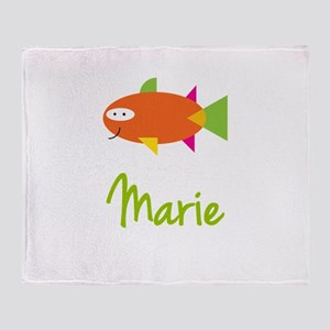 Marie is a Big Fish Throw Blanket