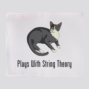 Plays With String Theory Throw Blanket