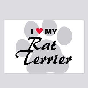 I Love My Rat Terrier Postcards (Package of 8)