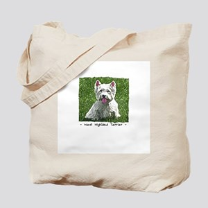 Westie Art Tote Bag