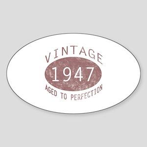 1947 Vintage (Red) Sticker (Oval)