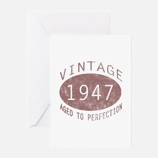 1947 Vintage (Red) Greeting Card