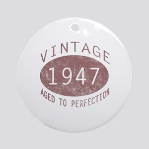1947 Vintage (Red) Ornament (Round)