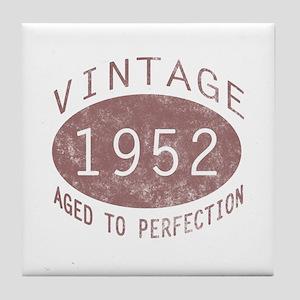 1952 Vintage (Red) Tile Coaster