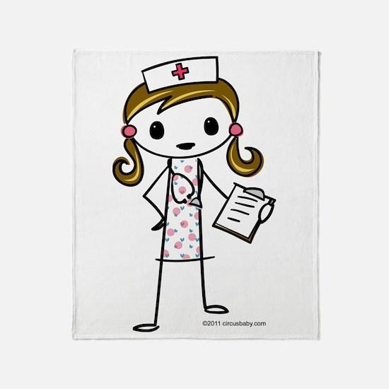 Cute Nurse Throw Blanket