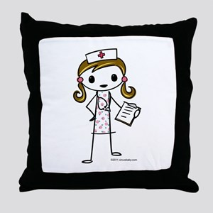 Cute Nurse Throw Pillow