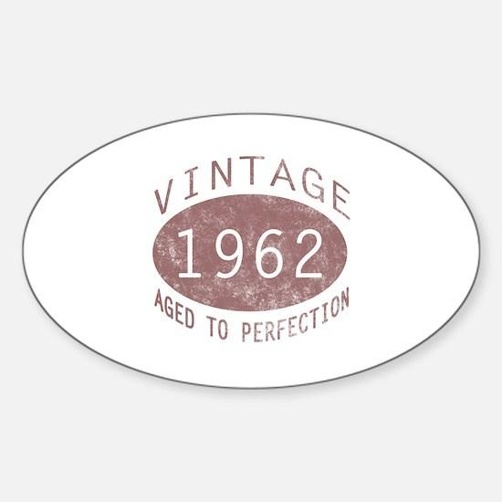 1962 Vintage (Red) Sticker (Oval)
