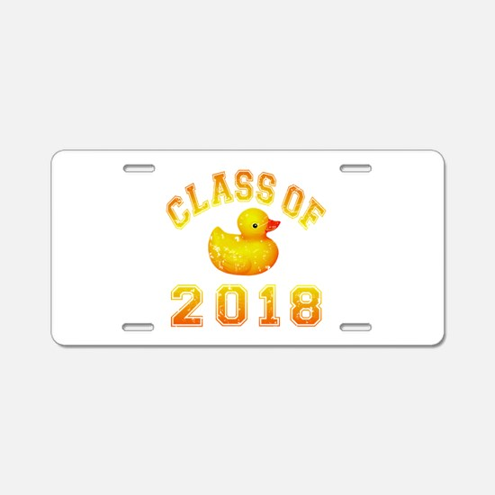 Class Of 2018 Duckie Aluminum License Plate