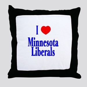 I Love Minnesota Liberals Throw Pillow