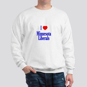 I Love Minnesota Liberals Sweatshirt