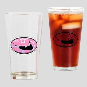 Nantucket MA - Oval Design Drinking Glass