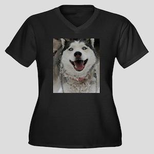 Crazy Aspen Women's Plus Size V-Neck Dark T-Shirt